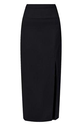 Женская шерстяная юбка TEGIN синего цвета, арт. FS2068 | Фото 1