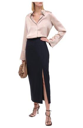 Женская шерстяная юбка TEGIN синего цвета, арт. FS2068 | Фото 2