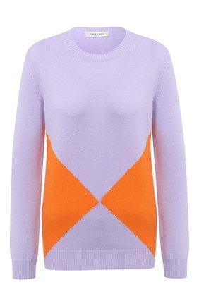 Женский кашемировый пуловер VALENTINO сиреневого цвета, арт. UB3KC15T5PY | Фото 1