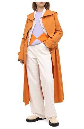 Женский кашемировый пуловер VALENTINO сиреневого цвета, арт. UB3KC15T5PY | Фото 2