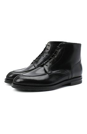 Мужские кожаные ботинки W.GIBBS черного цвета, арт. 0639006/0220 | Фото 1