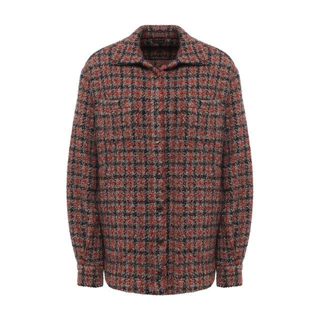 Рубашка из шерсти и кашемира Kiton