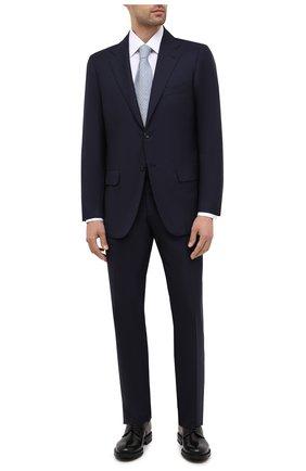 Мужской шерстяной костюм KITON темно-синего цвета, арт. UA81K01W01 | Фото 1 (Материал подклада: Купро; Материал внешний: Шерсть; Рукава: Длинные; Костюмы М: Однобортный; Стили: Классический)