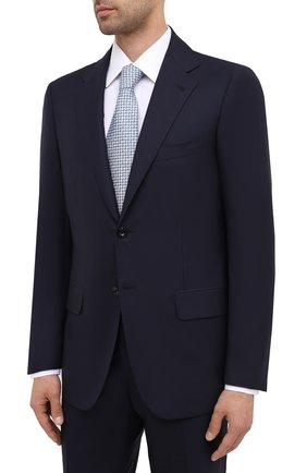 Мужской шерстяной костюм KITON темно-синего цвета, арт. UA81K01W01 | Фото 2