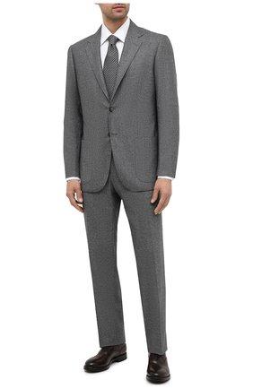 Мужской шерстяной костюм KITON темно-серого цвета, арт. UA81K01T52 | Фото 1