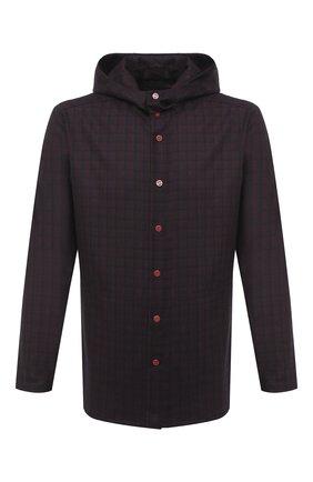 Мужская шерстяная рубашка KITON бордового цвета, арт. UMCPETEK01T3507 | Фото 1