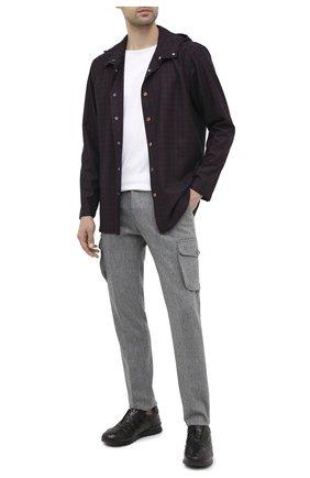 Мужская шерстяная рубашка KITON бордового цвета, арт. UMCPETEK01T3507 | Фото 2