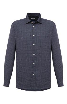 Мужская шерстяная рубашка KITON синего цвета, арт. UMCNERK01T3801 | Фото 1