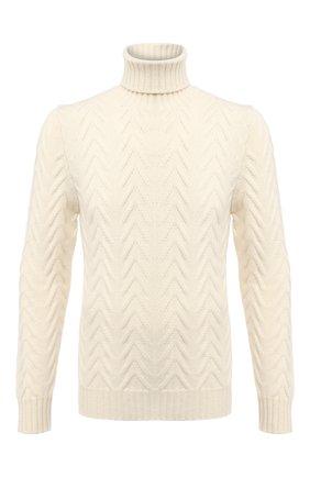 Мужской кашемировый свитер KITON белого цвета, арт. UK1207 | Фото 1