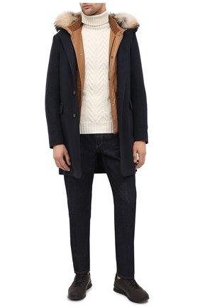 Мужской кашемировый свитер KITON белого цвета, арт. UK1207 | Фото 2