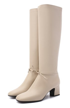 Женские кожаные сапоги mariel LORO PIANA светло-бежевого цвета, арт. FAL2951 | Фото 1