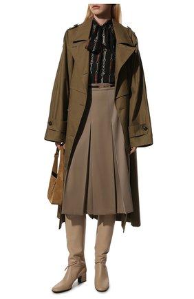 Женские кожаные сапоги mariel LORO PIANA светло-бежевого цвета, арт. FAL2951 | Фото 2