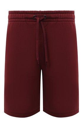 Мужские хлопковые шорты BURBERRY бордового цвета, арт. 8034170 | Фото 1