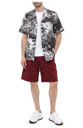 Мужские хлопковые шорты BURBERRY бордового цвета, арт. 8034170 | Фото 2