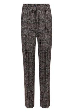 Женские брюки из шерсти и хлопка DOLCE & GABBANA коричневого цвета, арт. FTAM2T/FQMH2 | Фото 1