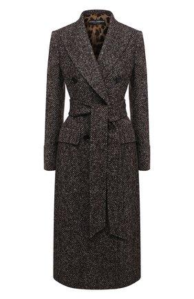 Женское шерстяное пальто DOLCE & GABBANA разноцветного цвета, арт. F0Y52T/FMMFV | Фото 1