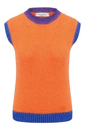 Женский шерстяной жилет VALENTINO оранжевого цвета, арт. UB3KC16T5RH | Фото 1