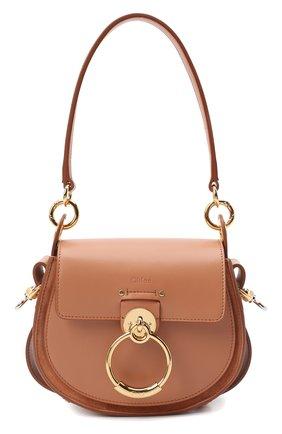 Женская сумка tess small CHLOÉ коричневого цвета, арт. CHC18WS153A37   Фото 1