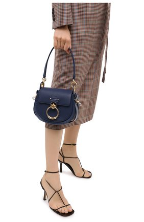 Женская сумка tess small CHLOÉ синего цвета, арт. CHC19WS153944   Фото 2