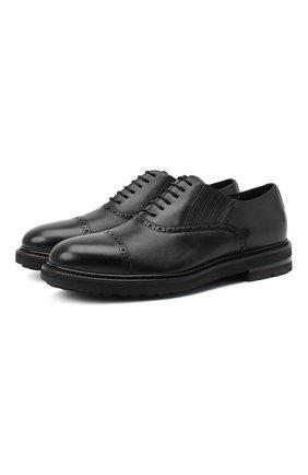 Мужские кожаные оксфорды H`D`S`N BARACCO черного цвета, арт. 80318.M.0* | Фото 1