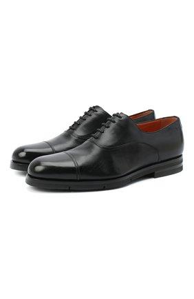 Мужские кожаные оксфорды SANTONI черного цвета, арт. MCAZ16503SI5EKYBN01 | Фото 1