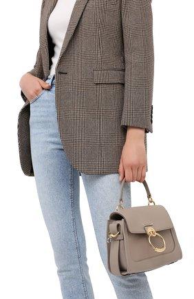 Женская сумка tess day mini CHLOÉ серого цвета, арт. CHC20AS143C62   Фото 2