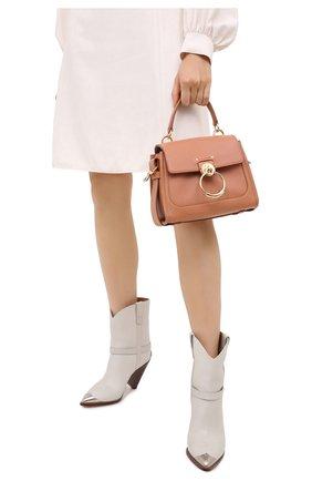 Женская сумка tess day mini CHLOÉ коричневого цвета, арт. CHC20AS143C62   Фото 2