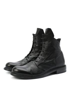 Мужские кожаные ботинки MOMA черного цвета, арт. 2CW141-BC | Фото 1
