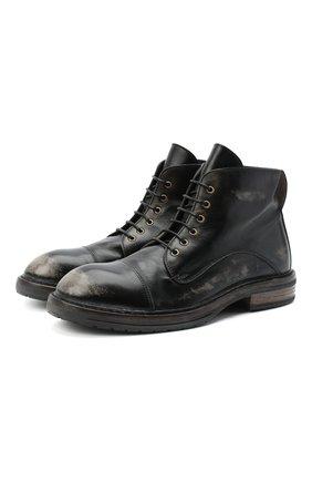 Мужские кожаные ботинки MOMA темно-серого цвета, арт. 2BW147-NE | Фото 1