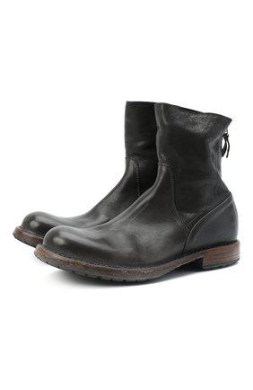 Мужские кожаные сапоги MOMA темно-серого цвета, арт. 2CW009-CU | Фото 1