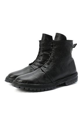Мужские кожаные ботинки MOMA черного цвета, арт. 2CW103-BT | Фото 1