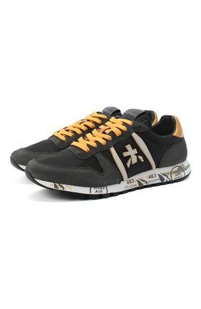 Мужские комбинированные кроссовки eric PREMIATA темно-серого цвета, арт. ERIC/VAR4944 | Фото 1