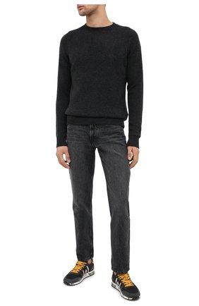 Мужские комбинированные кроссовки eric PREMIATA темно-серого цвета, арт. ERIC/VAR4944 | Фото 2