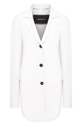 Женский кашемировый жакет KITON белого цвета, арт. D48512DK05I38 | Фото 1