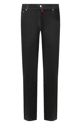 Мужские джинсы KITON черного цвета, арт. UPNJS1/J02T63 | Фото 1