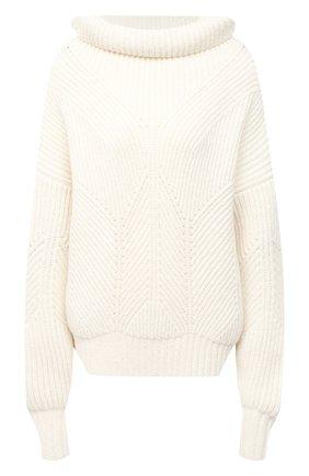Женский свитер из шерсти и вискозы ESCADA белого цвета, арт. 5033416 | Фото 1