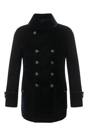 Мужской пальто GIORGIO ARMANI темно-синего цвета, арт. 0WG0C04H/T0025 | Фото 1