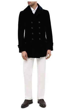 Мужской пальто GIORGIO ARMANI темно-синего цвета, арт. 0WG0C04H/T0025 | Фото 2