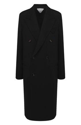Женское шерстяное пальто BOTTEGA VENETA черного цвета, арт. 628724/VKUU0 | Фото 1