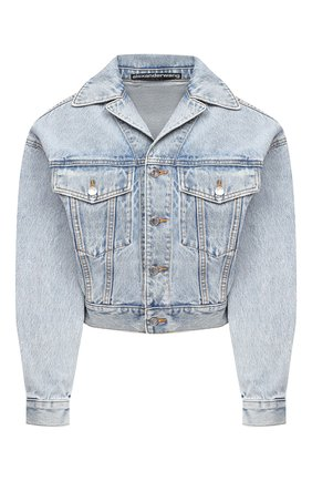 Женская джинсовая куртка DENIM X ALEXANDER WANG голубого цвета, арт. 4DC2202702   Фото 1