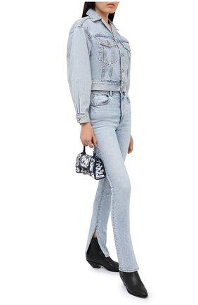 Женская джинсовая куртка DENIM X ALEXANDER WANG голубого цвета, арт. 4DC2202702   Фото 2