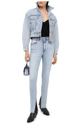Женские джинсы DENIM X ALEXANDER WANG голубого цвета, арт. 4DC2204710   Фото 2