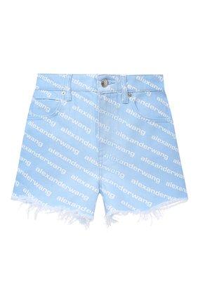 Женские джинсовые шорты DENIM X ALEXANDER WANG голубого цвета, арт. 4DC2204782   Фото 1
