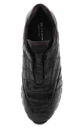 Мужские кроссовки из кожи крокодила KITON коричневого цвета, арт. USSFREEN00102/CNIL | Фото 5