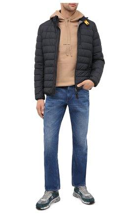 Мужская пуховая куртка ugo PARAJUMPERS черного цвета, арт. SL04/UG0 | Фото 2 (Материал подклада: Синтетический материал; Длина (верхняя одежда): Короткие; Материал внешний: Синтетический материал; Рукава: Длинные; Мужское Кросс-КТ: Верхняя одежда, Пуховик-верхняя одежда, пуховик-короткий; Стили: Спорт-шик; Кросс-КТ: Пуховик, Куртка; Материал утеплителя: Пух и перо)
