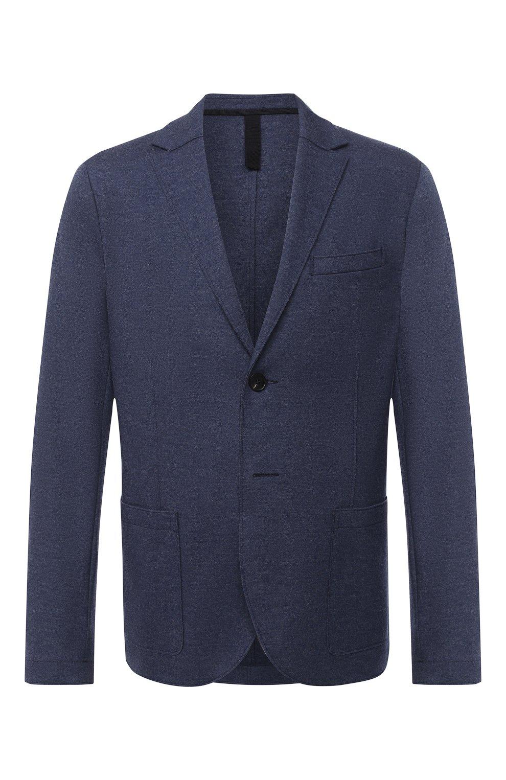 Мужской шерстяной пиджак HARRIS WHARF LONDON синего цвета, арт. C7G27MYM | Фото 1