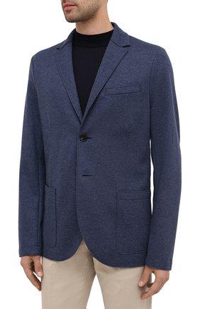 Мужской шерстяной пиджак HARRIS WHARF LONDON синего цвета, арт. C7G27MYM | Фото 3