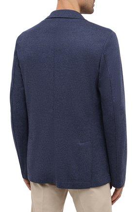 Мужской шерстяной пиджак HARRIS WHARF LONDON синего цвета, арт. C7G27MYM | Фото 4