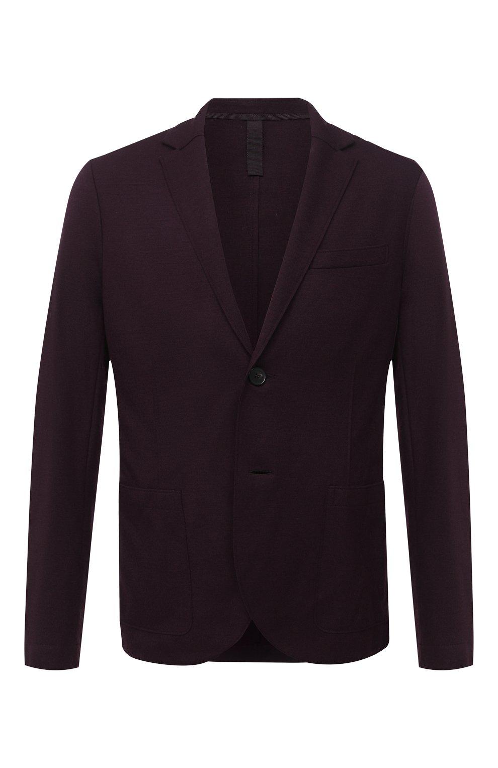 Мужской шерстяной пиджак HARRIS WHARF LONDON бордового цвета, арт. C7G27MYM | Фото 1