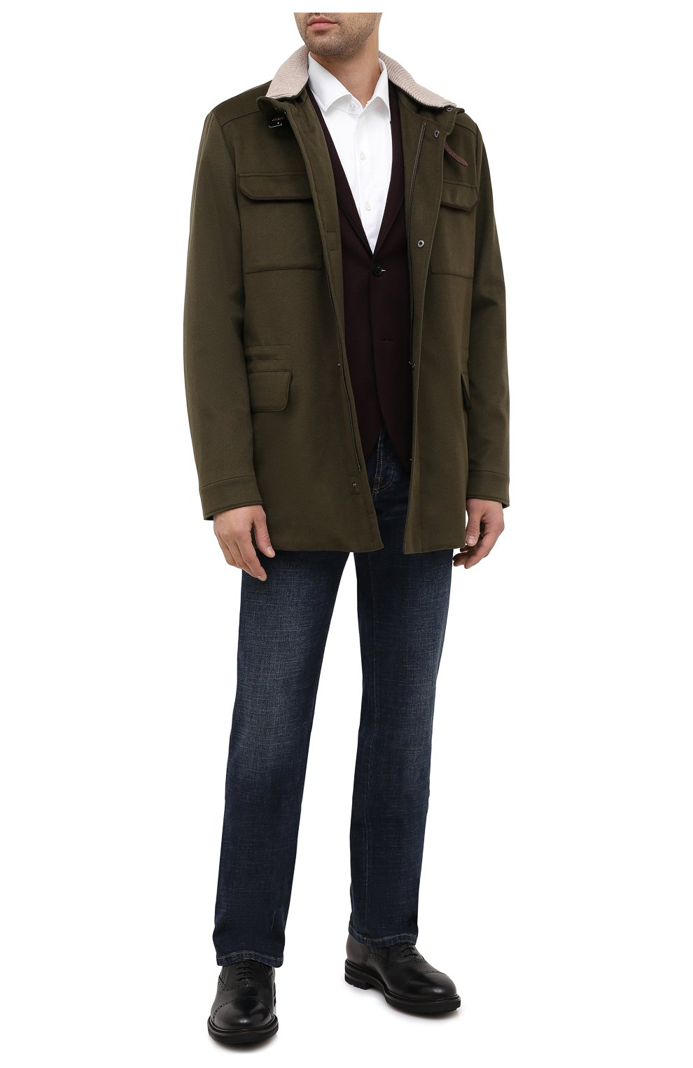Мужской шерстяной пиджак HARRIS WHARF LONDON бордового цвета, арт. C7G27MYM | Фото 2